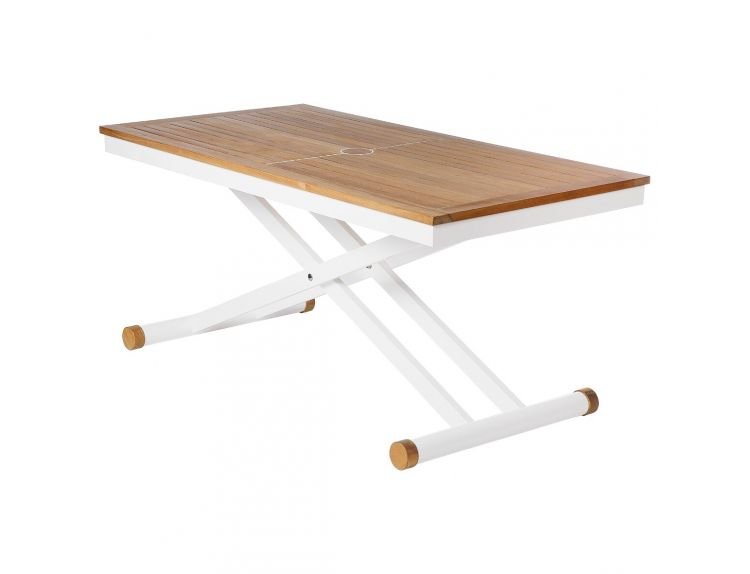 Aura Adjustable Height Table Arctic White - image 1