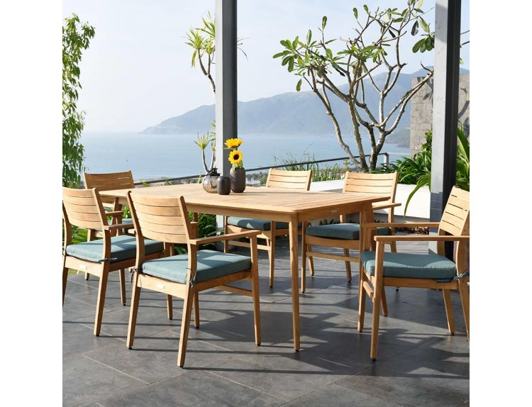 Eve 6 Seat Rectangular Dining Set
