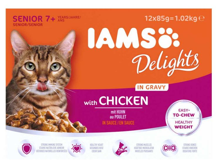Iams Delights with Chicken in Gravy for Senior Cats