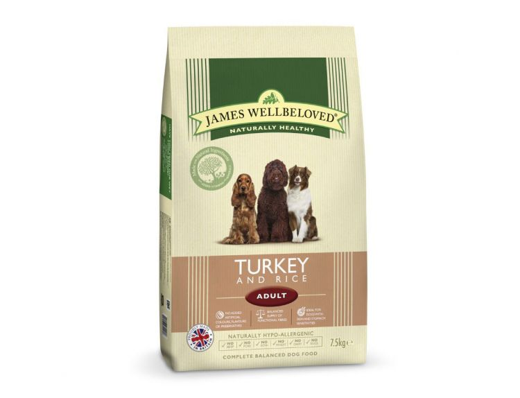 James Wellbeloved Adult Turkey & Rice (7.5kg)